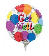 "4"" Airfill Only Get Well Balloons"