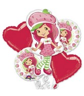 Strawberry Shortcake Party Balloon Bouquet