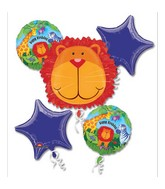 Bouquet Jungle Animals Birthday Balloon Packaged