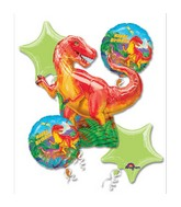 Bouquet Dinosaur Party Balloon Packaged