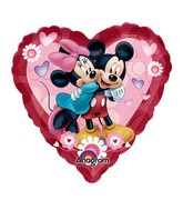"9"" Airfill Mickey And Minnie Heart"