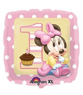 "18"" Minnie Mouse 1st Birthday Balloon"