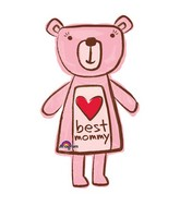 "35"" SuperShape Best Mommy Bear Balloon"
