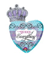 "30"" Queen Of Everything Crowned Heart"