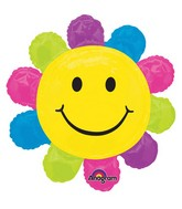 "29"" SuperShape Happy Face Daisy Balloon"