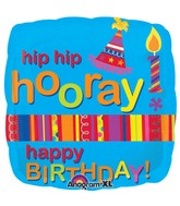 "18"" Hip Hip Hooray Happy Birthday"