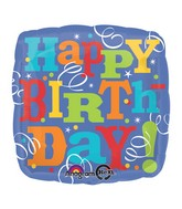 "18""happy birthday swirls Balloon"