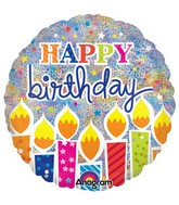 "32"" Shimmer Birthday Candles Jumbo Holographic"