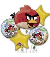 Angry Birds Red Balloon Bouquet