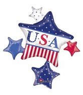 "35"" SuperShape American Classic Star Cluster Balloon"
