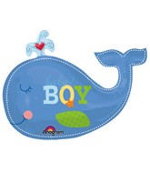 "34"" Ahoy Baby Boy Whale Balloon"