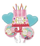 Sweet Stuff Cake Balloon Bouquet