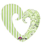 "32"" Honeydew Open Heart SuperShape"
