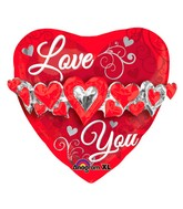 "23"" Love You Heart Garland Multi-Balloon"