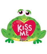 "30"" SuperShape Kiss Me Toad Balloon Packaged"