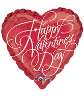 "18"" Holographic Fancy Happy Valentines Day Balloon"