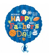 "18"" Happy Father&#39s Day Sports"