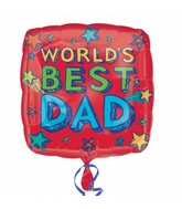 "18"" World&#39s Best Dad Mylar Balloon"
