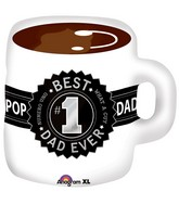 "23"" Best Dad Mug Jumbo Balloon"