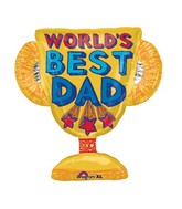 "27"" Best Dad Trophy Jumbo Balloon"