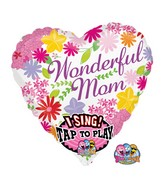 "29"" Singing Balloon Wonderful Mom"