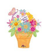 Airfill Only Mini Shape Mom Flower Pot Balloon