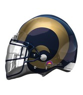 "21"" Los Angeles Rams Helmet NFL Jumbo Balloon"