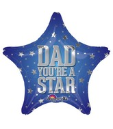 "18"" Dad You&#39re a Star Mylar Balloon"