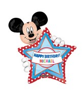 "24"" Mickey Mouse HBD Personalize Jumbo Balloon"