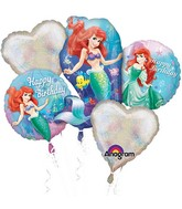 Little Mermaid Happy Birthday Bouquet