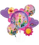 Tinker Bell Birthday 5 Balloon Bouquet