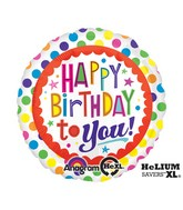 "18"" BDay To You Dots Mylar Balloon"