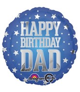 "18"" Super Star Dad Bday Balloon"