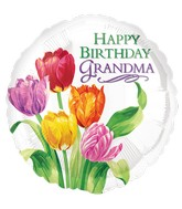 "18"" Grandma Tulip Bday Balloon Packaged"