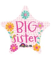 "18"" Big Sister Star Mylar Balloon"