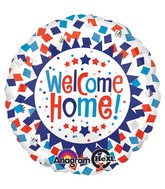 "18"" Welcome Home Confetti Balloon"