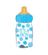 "23"" It`s A Boy Baby Bottle Mylar Balloon"