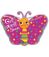 "18"" Get Well Butterfly Junior Shape"