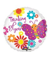 "9"" Airfill Only Cute Butterfly Thinking of You Balloon"