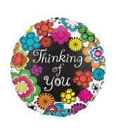 "21"" ColorBlast Thinking of You Floral Balloon"