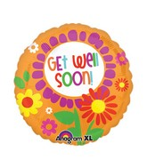 "21"" ColorBlast Bright Floral Get Well Balloon"