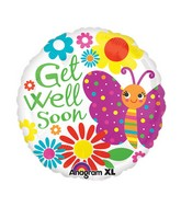 "21"" ColorBlast Cute Butterfly Get Well Balloon"