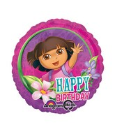 "18"" Dora Happy Birthday Balloon"