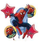 Spider-Man Birthday Balloon Bouquet