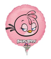 "9"" Airfill Only Angry Birds Pink Bird Balloon"