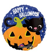 "18"" Halloween Kitty Balloon Packaged"