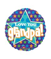 "21"" ColorBlast Love You Grandpa Stars Balloon"
