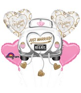 Just Married Wedding Car Balloon Bouquet