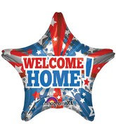 "32"" Jumbo Welcome Home Patriotic Star Balloon"
