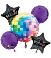 Bouquet 70's Disco Fever Balloon Packaged